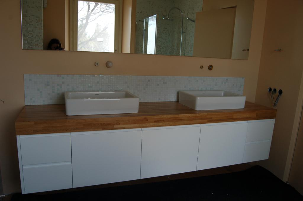 Lavandino bagno sospeso mobile lavabo sospeso in legno - Lavandino bagno sospeso ...